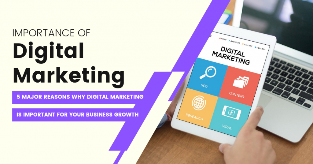 Importance of Digital Marketing: 5 Major Reasons Why Digital Marketing Is Important for Your Business Growth.
